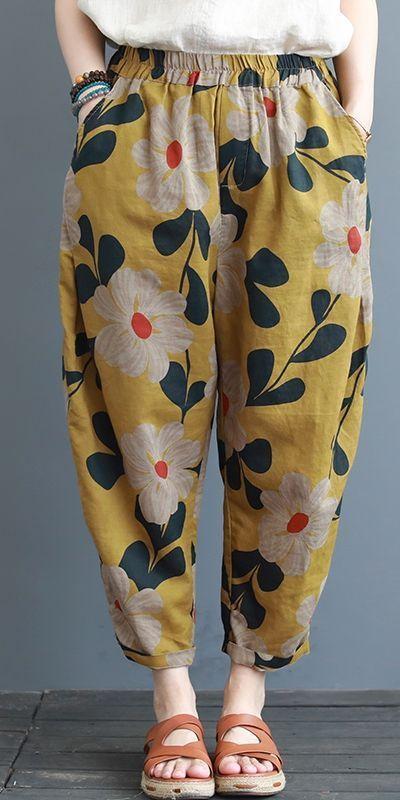 Summer Loose Cotton Linen Pants Women Casual Cotton Linen Trousers K3062 - Summer Outfits