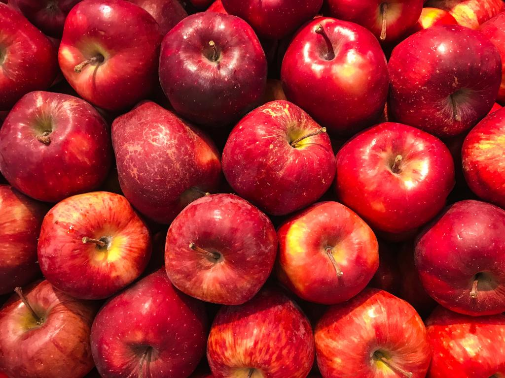 shiny red apples that keep the doctor away